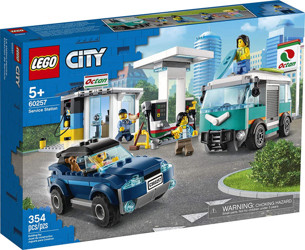LEGO City Service Station 60257 Pretend Play Toy, Building Sets for Kids, New 2020 (354 Pieces)