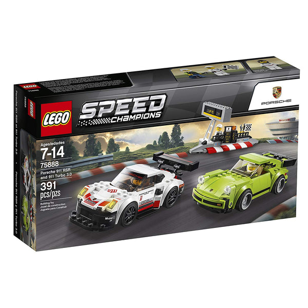 LEGO Speed Champions Porsche 911 RSR and 911 Turbo 3.0 75888 Building Kit brickskw bricks kw kuwait online store