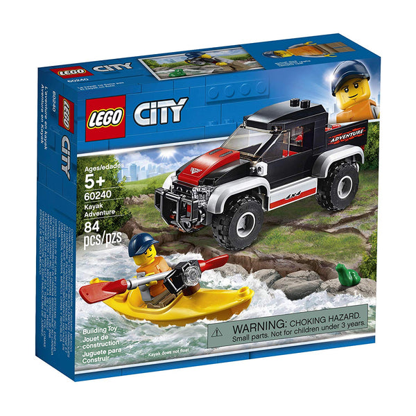 LEGO City Great Vehicles Kayak Adventure 60240 Building Kit , New 2019  brickskw bricks kw kuwait online