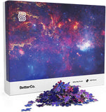 Milky Way Puzzle for Adults - 1000 Pieces - Explore The Stars with This Difficult 1000 Piece Puzzle of Outer Space! A Vibrant Galaxy Photo Shot from The Hubble Telescope! brickskw bricks kw kuwait lego online