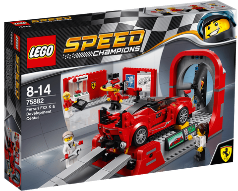Lego Speed Champions Ferrari FXX K & Development Center 75882 brickskw bricks kw kuwait