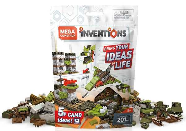 Mega Construx Inventions Camo Brick Building Set