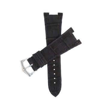 Casati - Milano Alligator Strap Black Alligator Nubuck Watch Strap Patek Philippe Compatible