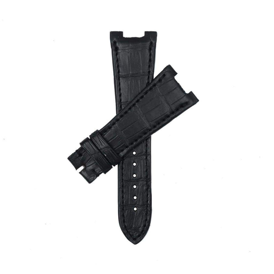 Casati - Milano Alligator Strap Black Matt Genuine Alligator Watch Strap Patek Philippe Compatible