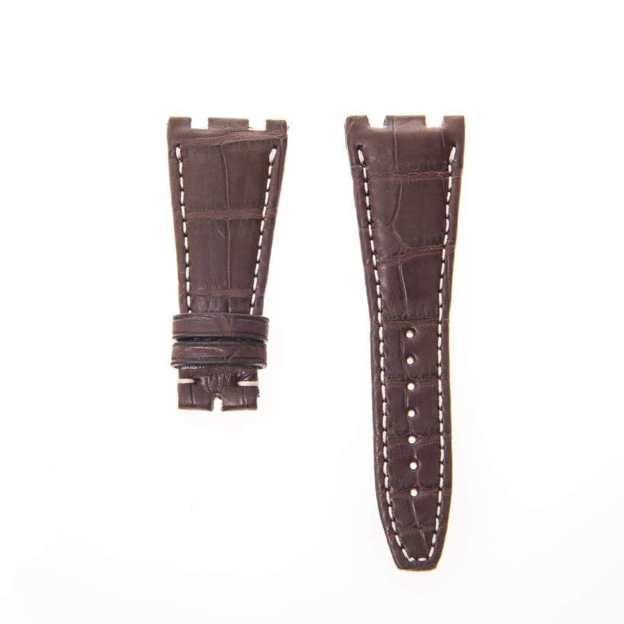 Casati - Milano Alligator Strap Brown Matt Genuine Alligator Watch Strap Audemars Piguet Compatible