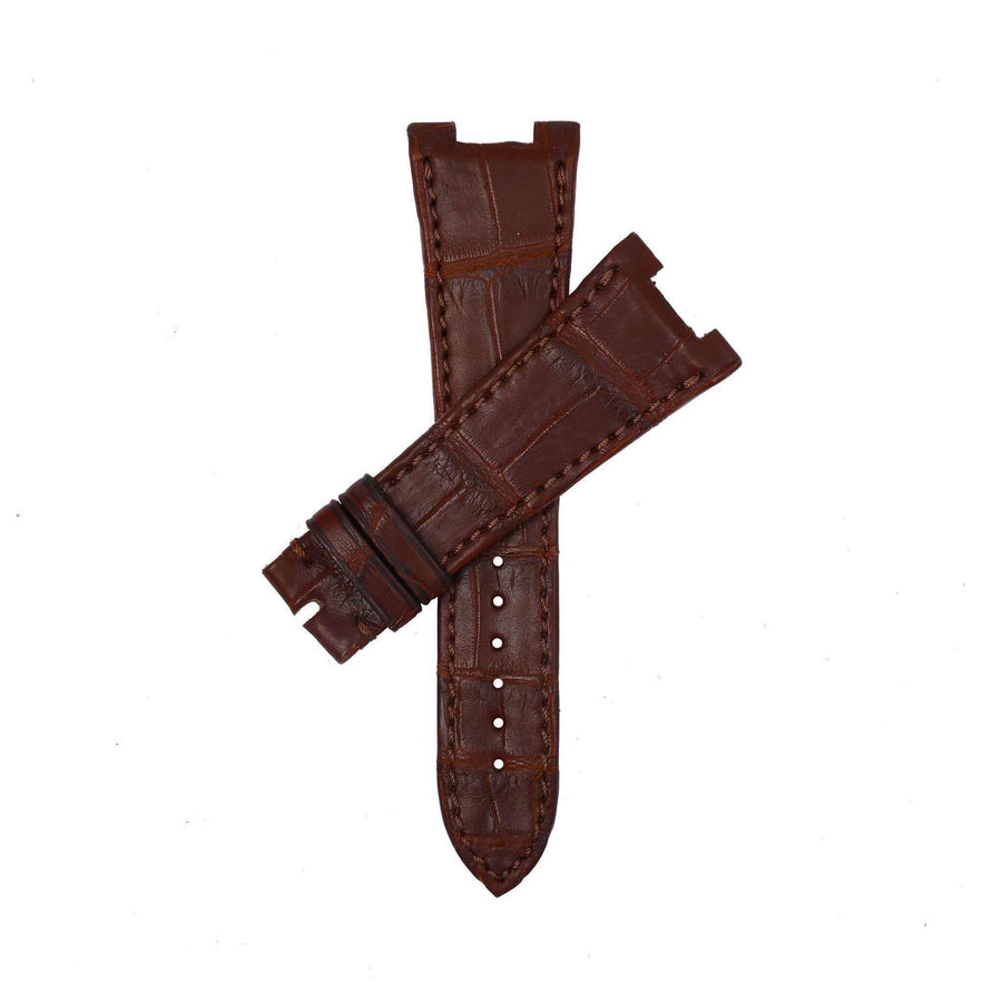 Casati - Milano Alligator Strap Brown Matt Genuine Alligator Watch Strap Patek Philippe Compatible