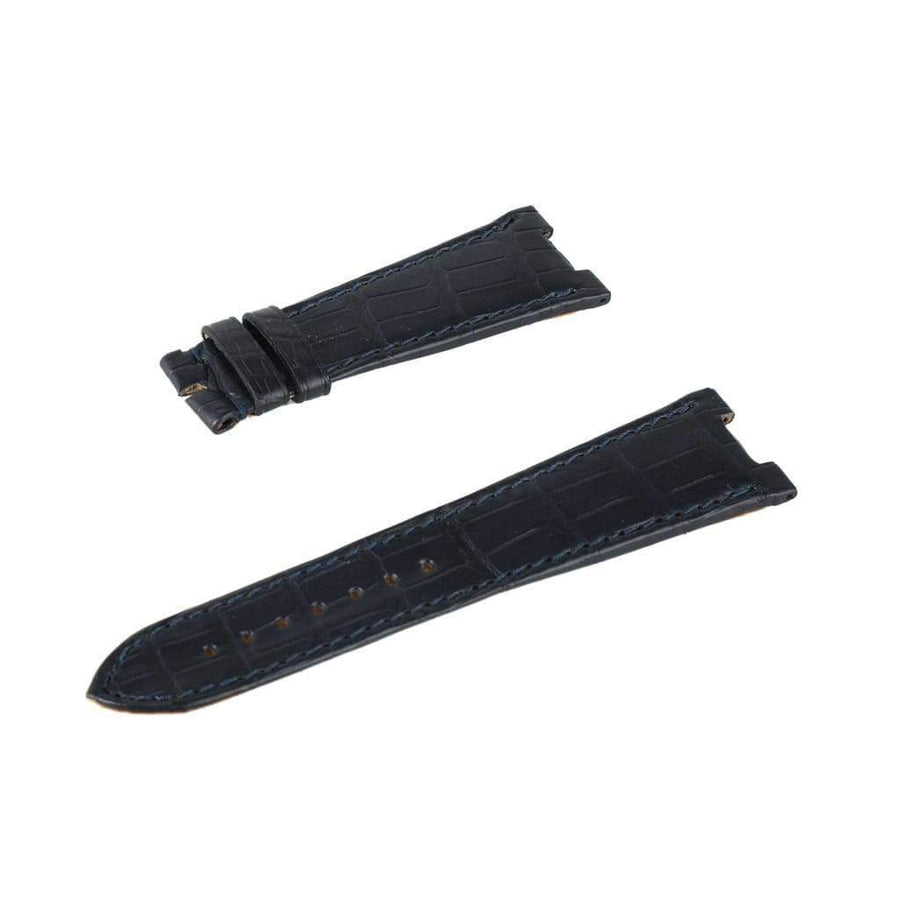 Casati - Milano Alligator Strap Dark Blu Matt Genuine Alligator Watch Strap Patek Philippe Compatible