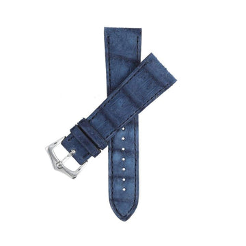 Casati - Milano Alligator Strap Hand Stitches Blu Alligator Nubuck Watch Strap