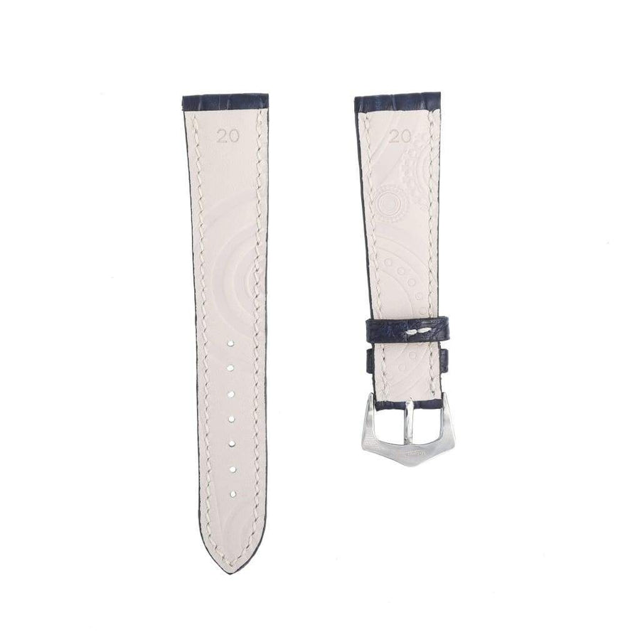 Casati - Milano Alligator Strap Hand Stitches Matt Blu Caiman Watch Strap