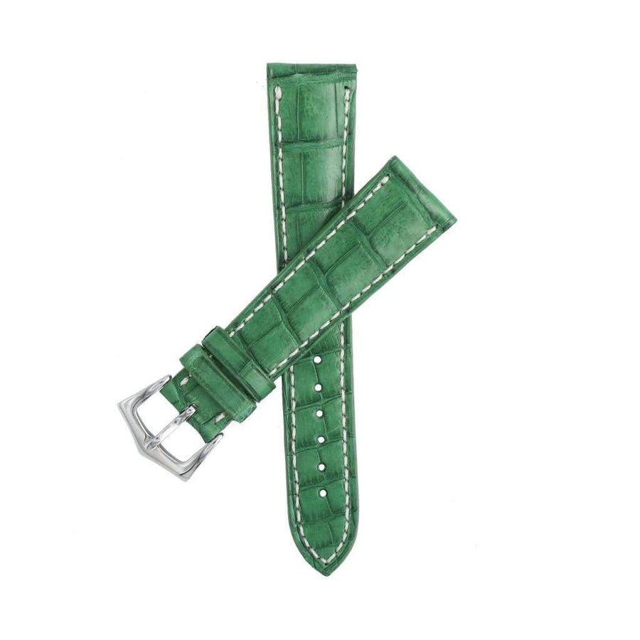 Casati - Milano Alligator Strap Hand Stitches Matt Green Caiman Watch Strap