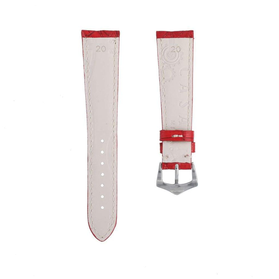 Casati - Milano Alligator Strap Hand Stitches Matt Red Caiman Watch Strap