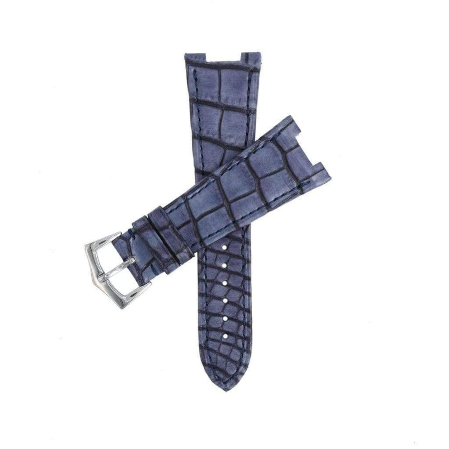 Casati - Milano Alligator Strap Vintage Blu Genuine Alligator Watch Strap Patek Philippe Compatible