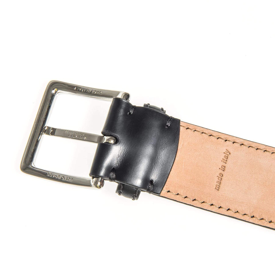 Casati - Milano Belt Black Leather Belt Stitched