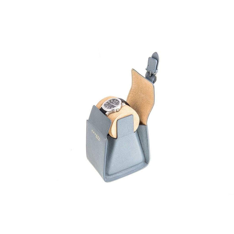 Casati - Milano Travel Case Casati Milano Travel Case Triangular Epsom Leather Grey