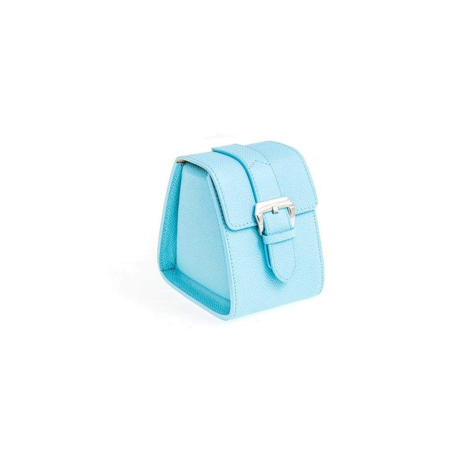 Casati - Milano Travel Case Casati Milano Travel Case Triangular Epsom Leather Light Blu
