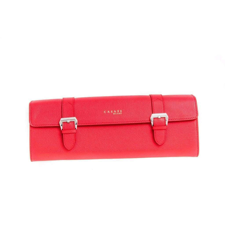 Casati - Milano Travel Case Casati Milano Travel Case Triangular Epsom Leather Red