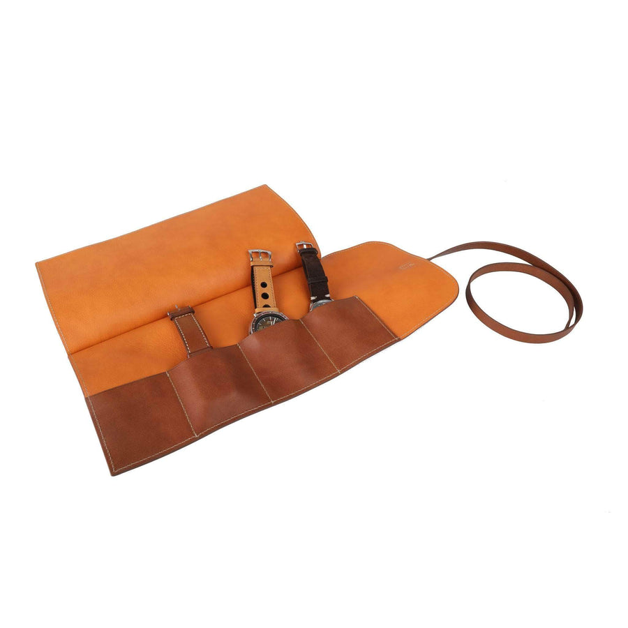 Casati - Milano Watch Rolls orange Leather Watch Roll 4 Watches