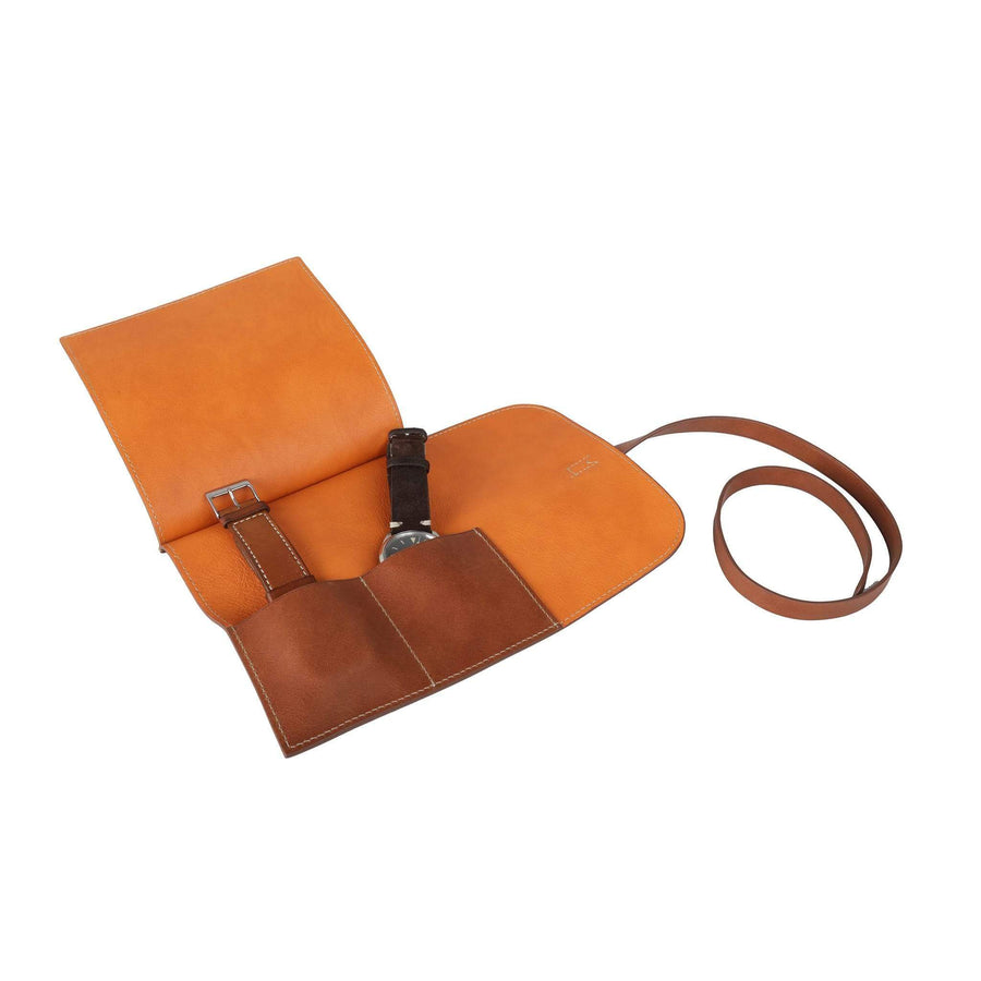 Casati - Milano Watch Rolls orange Leather Watch Roll 6 Watches