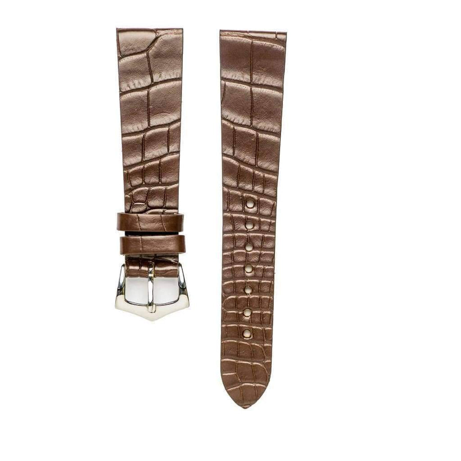 Milano Straps Alligator Strap Brown Alligator Watch Strap
