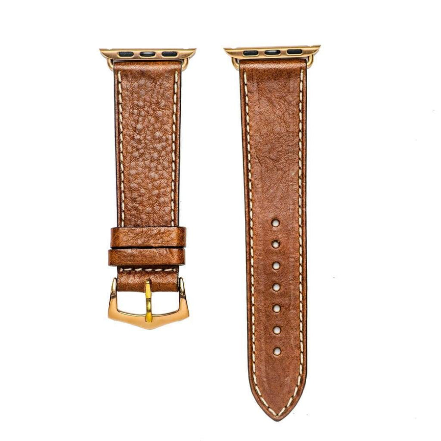 Milano Straps Apple Watch Leather Straps Brown Leather Apple Watch Band