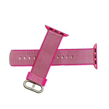 Milano Straps Apple Watch Nylon Straps 22mm Fuchsia Nylon Apple Watch Band