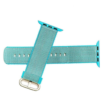 Milano Straps Apple Watch Nylon Straps 22mm Teal Nylon Apple Watch Band