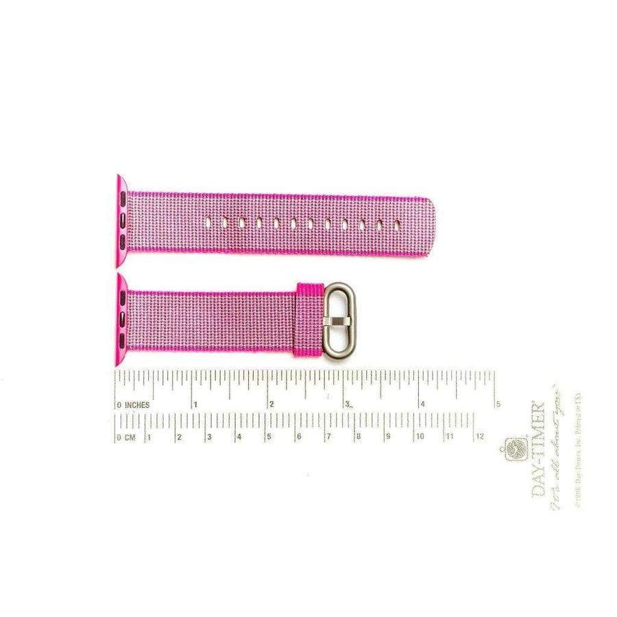 Milano Straps Apple Watch Nylon Straps 24mm Fuchsia Nylon Apple Watch Band