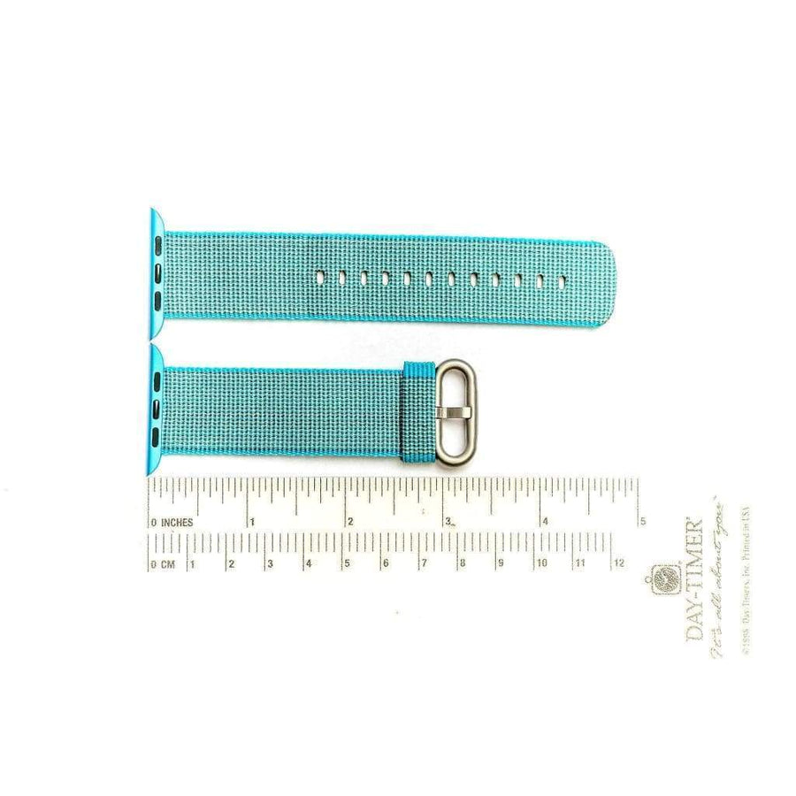 Milano Straps Apple Watch Nylon Straps Teal Nylon Apple Watch Band