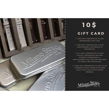 Milano Straps Gift Card Gift Card $10