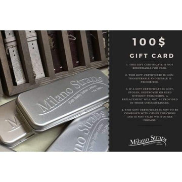 Milano Straps Gift Card Gift Card $100