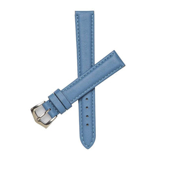Milano Straps Leather strap 16mm / Stainless Steel Polish Light Blu Nappa Leather Strap
