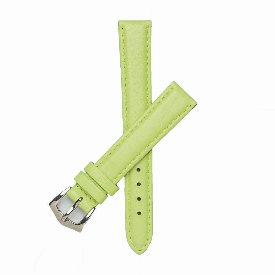 Milano Straps Leather strap 16mm / Stainless Steel Polish Lime Nappa Leather Strap