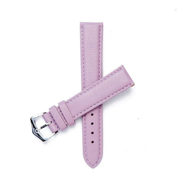 Milano Straps Leather strap 16mm / Stainless Steel Polish Pink Nappa Leather Strap