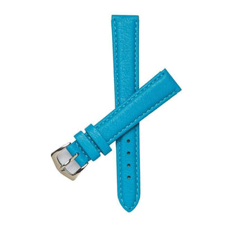 Milano Straps Leather strap 16mm / Stainless Steel Polish Turquoise Nappa Leather Strap