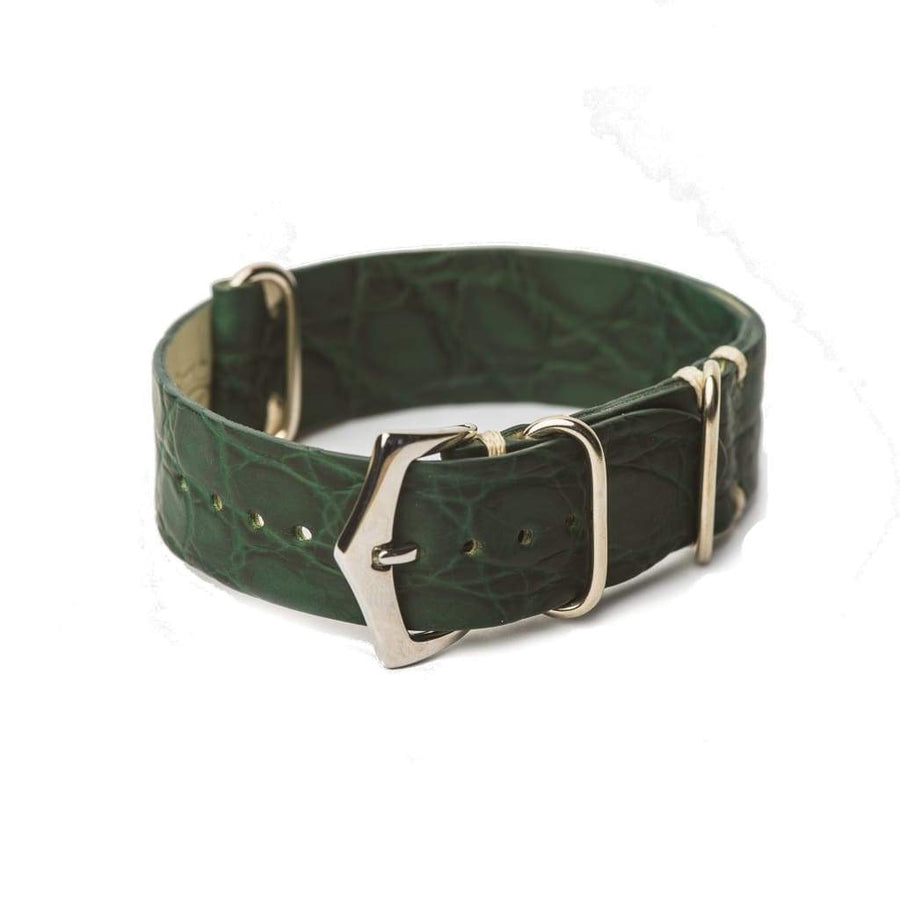 Milano Straps Leather strap 20mm Green Crocodile Italian Watch strap