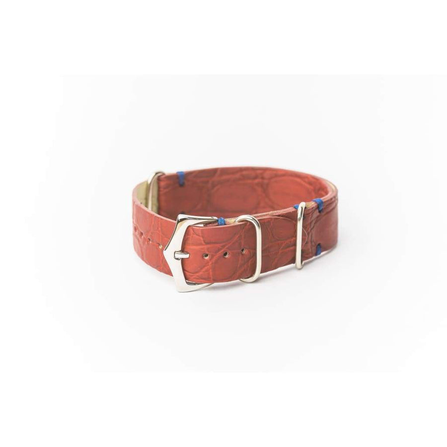 Milano Straps Leather strap 20mm Red Crocodile Italian Watch Strap