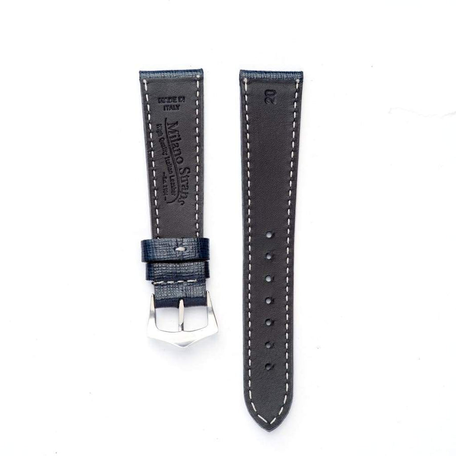 Milano Straps Leather strap Black Saffiano Leather Watch Strap