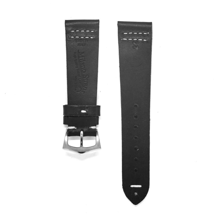 Milano Straps Leather strap Black Vintage Leather Watch Strap
