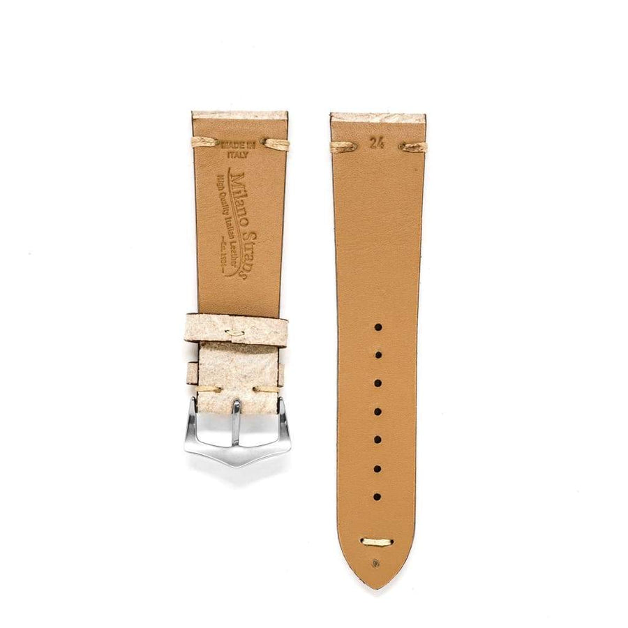 Milano Straps Leather strap Bone Vintage Leather Watch Strap