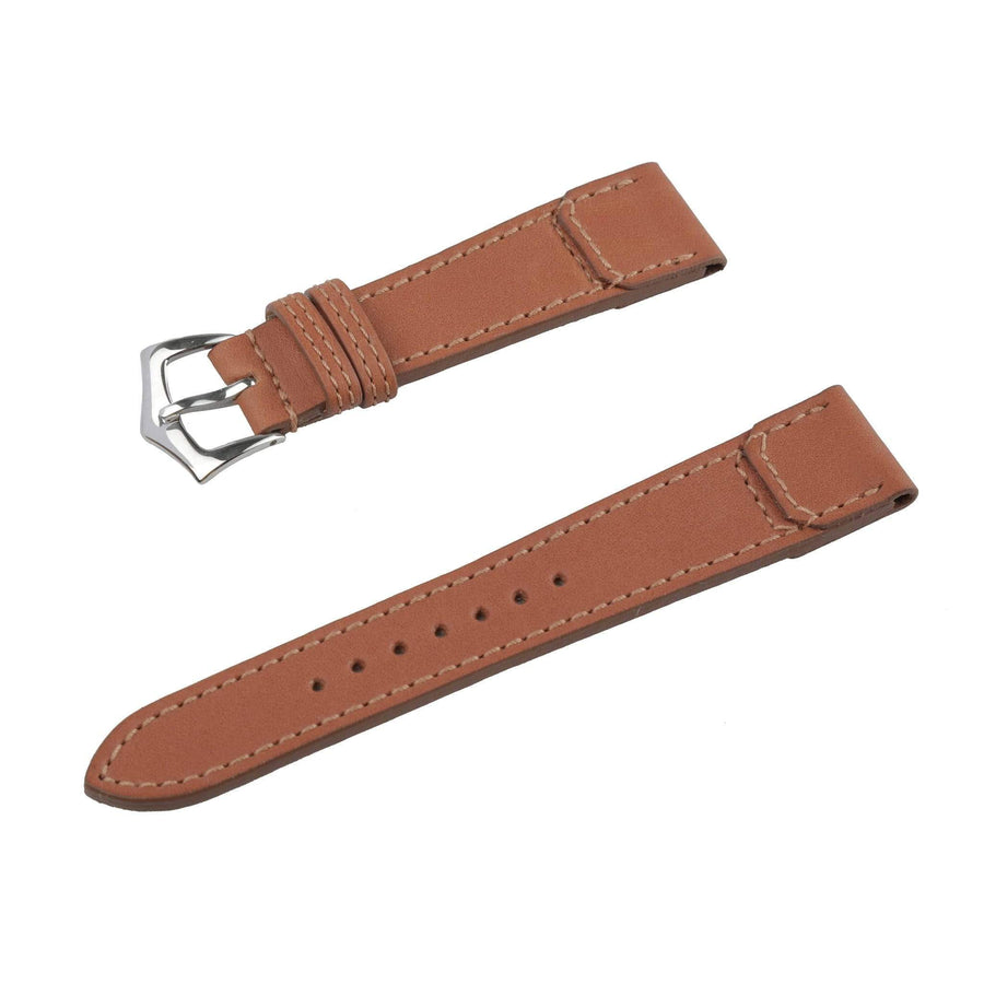 Milano Straps Leather strap Brown Barenia Leather Watch Strap