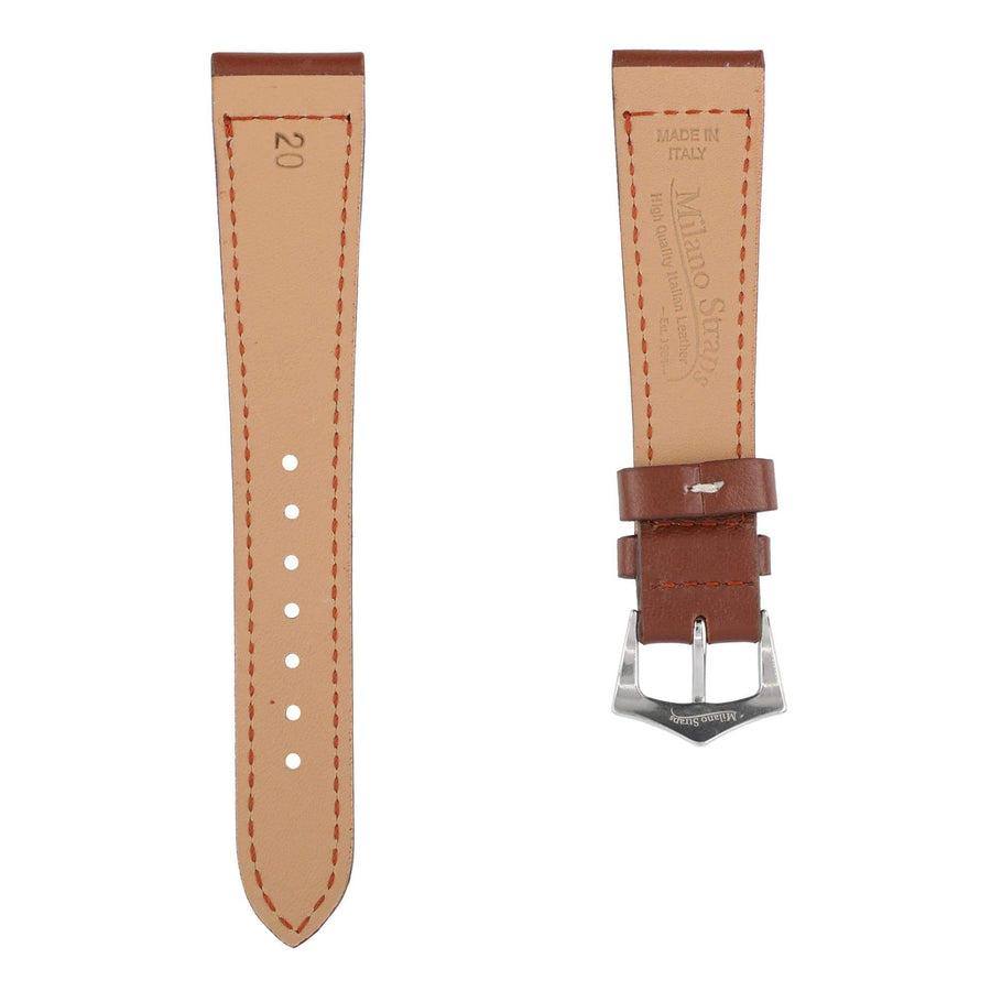 Milano Straps Leather strap Brown Calfskin Leather Watch Strap