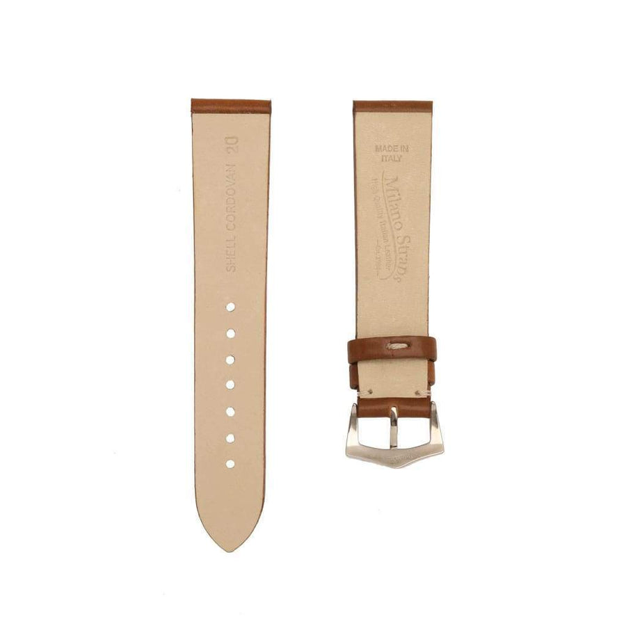 Milano Straps Leather strap Brown Cordovan Leather  No Stitches Watch Strap