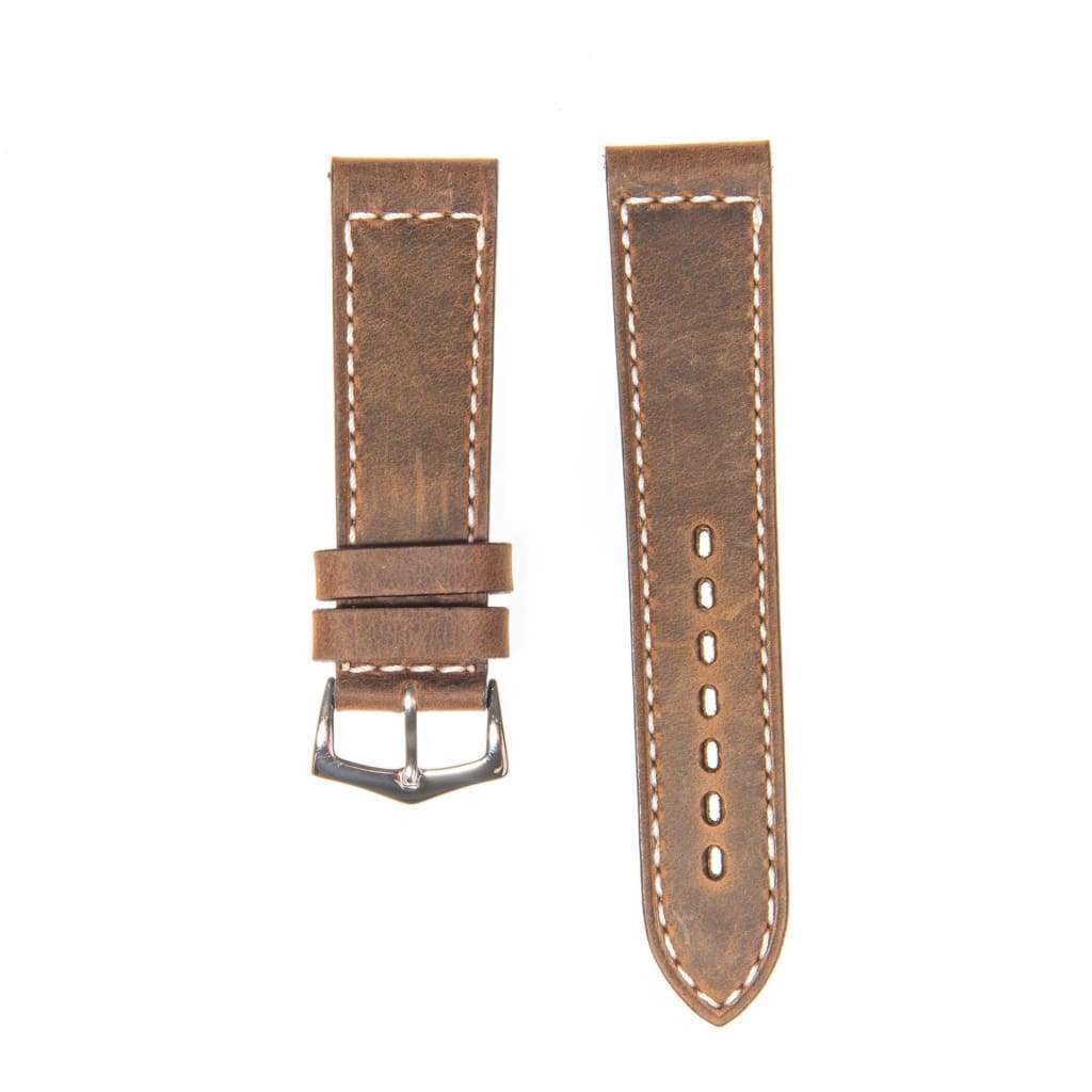 Brown Italian Leather Watch Strap