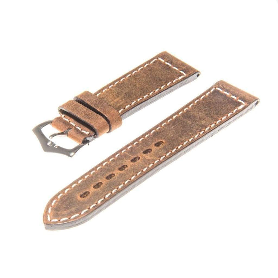 Milano Straps Leather strap Brown Italian Leather Watch Strap