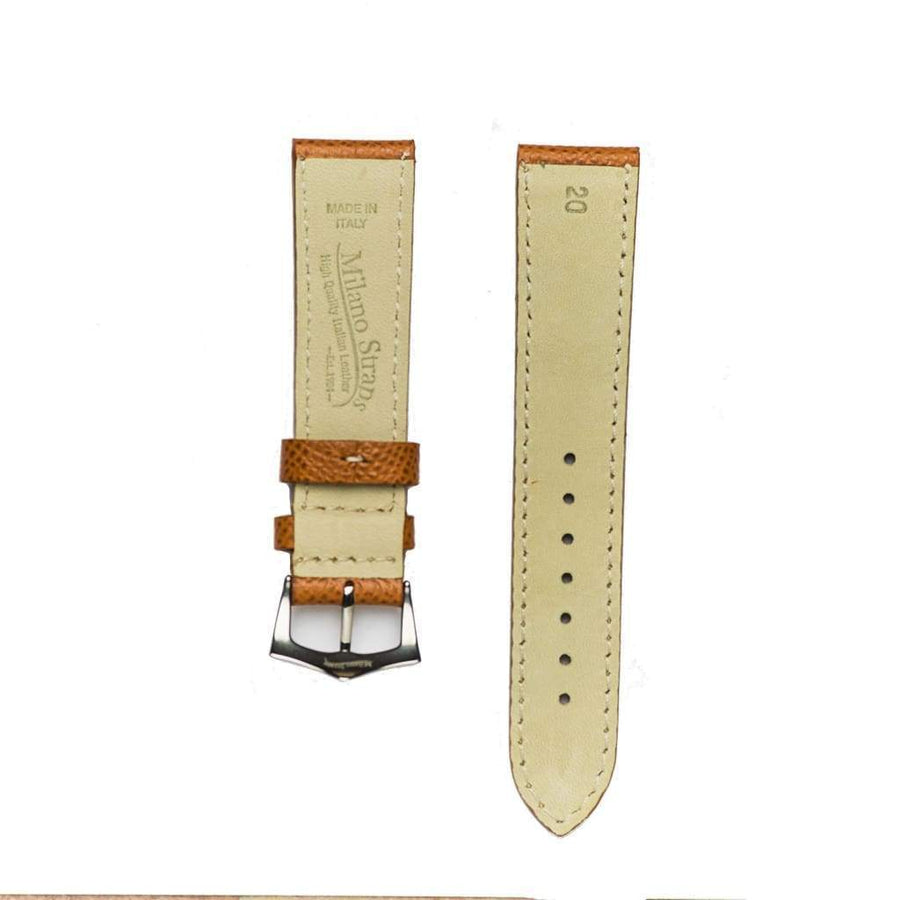 Milano Straps Leather strap Cognac Epsom Leather Watch Strap
