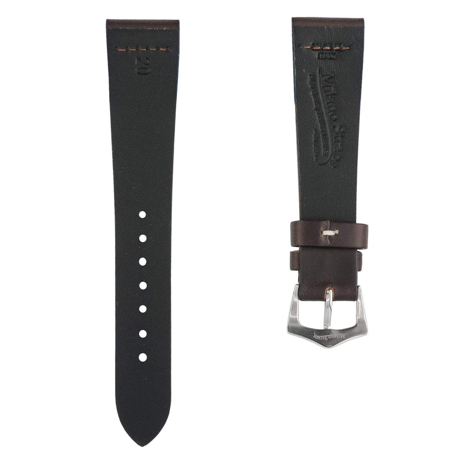 Milano Straps Leather strap Dark Brown Vintage Leather Watch Strap