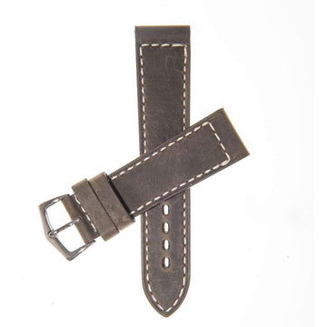 Milano Straps Leather strap Dark Green Italian Leather Watch Strap