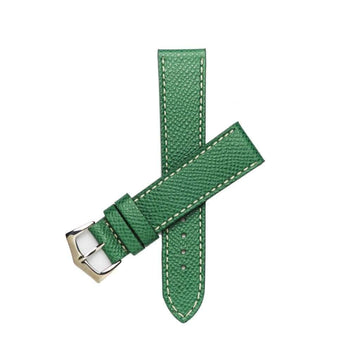 Milano Straps Leather strap Green Epsom Leather Watch Strap