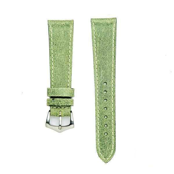 Milano Straps Leather strap Green Leather vintage Watch Band