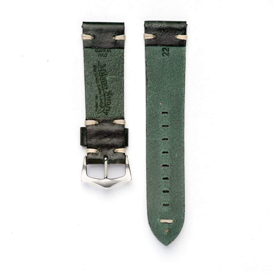 Milano Straps Leather strap Green Vintage Leather watch strap